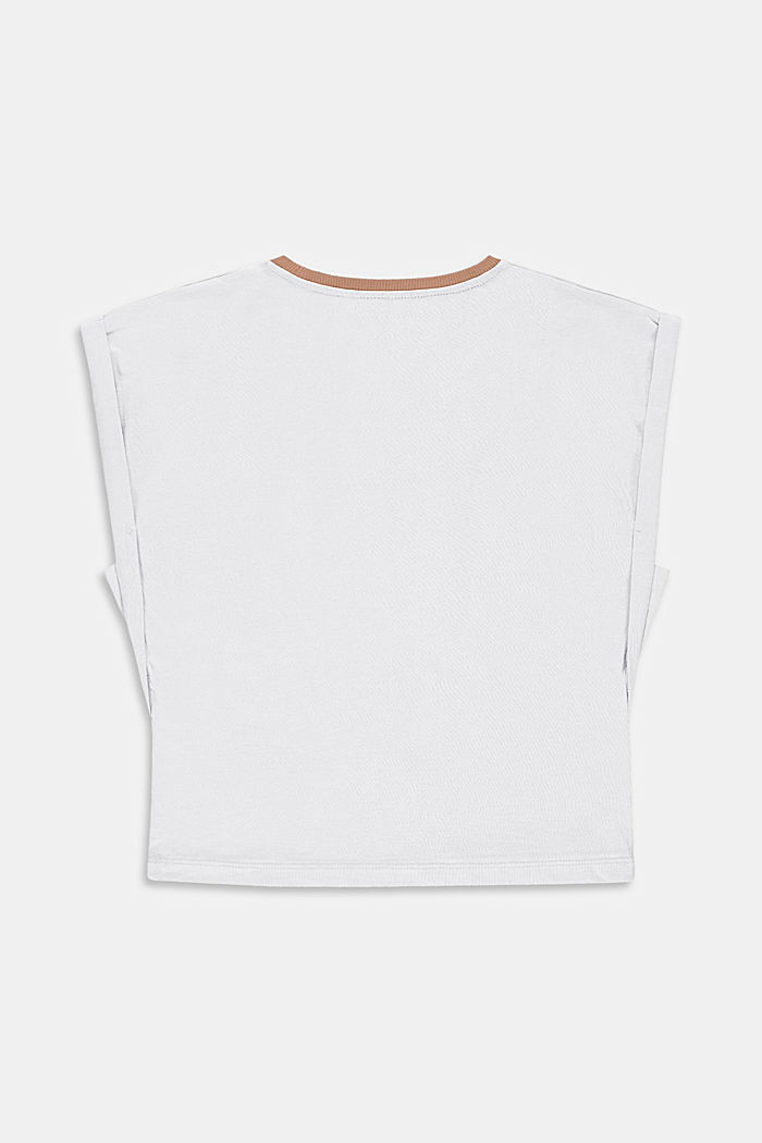 T-shirt con stampa di cactus in 100% cotone, WHITE, detail image number 1