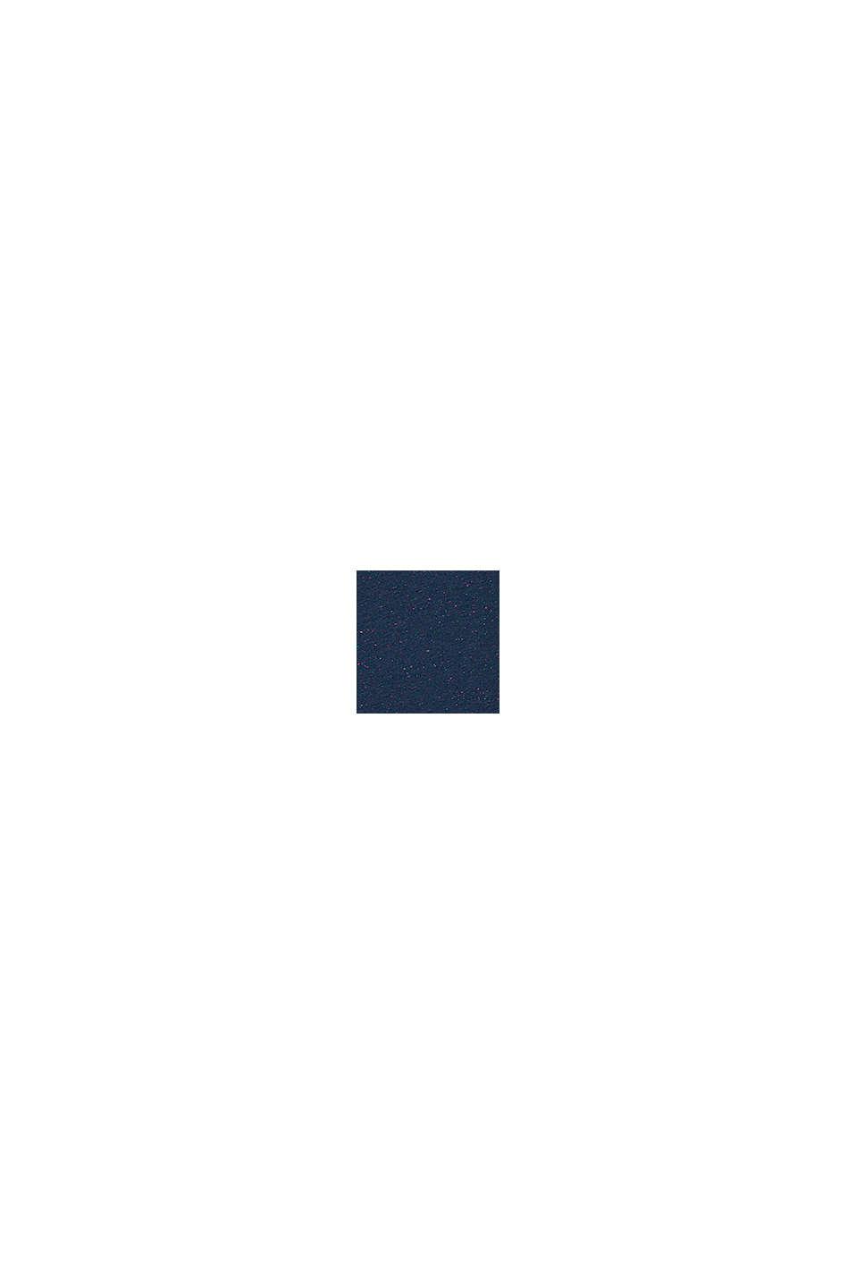 Boxy T-Shirt mit bunter Noppen-Struktur, PETROL BLUE, swatch