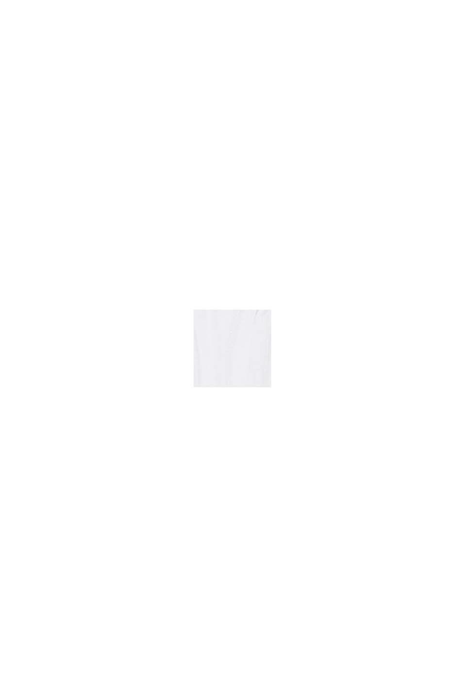 Top con bordino arricciato, 100% cotone, WHITE, swatch