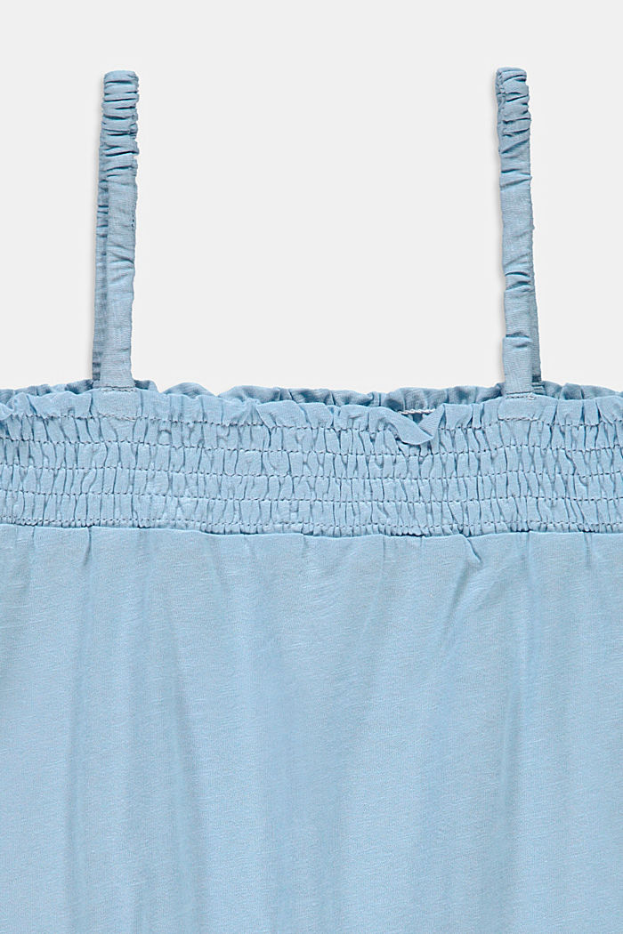 Top mit Smok-Bündchen, 100% Baumwolle, BLUE LAVENDER, detail image number 2