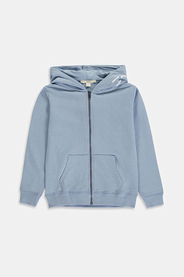 Sweatshirts cardigan, GREY BLUE, detail image number 0