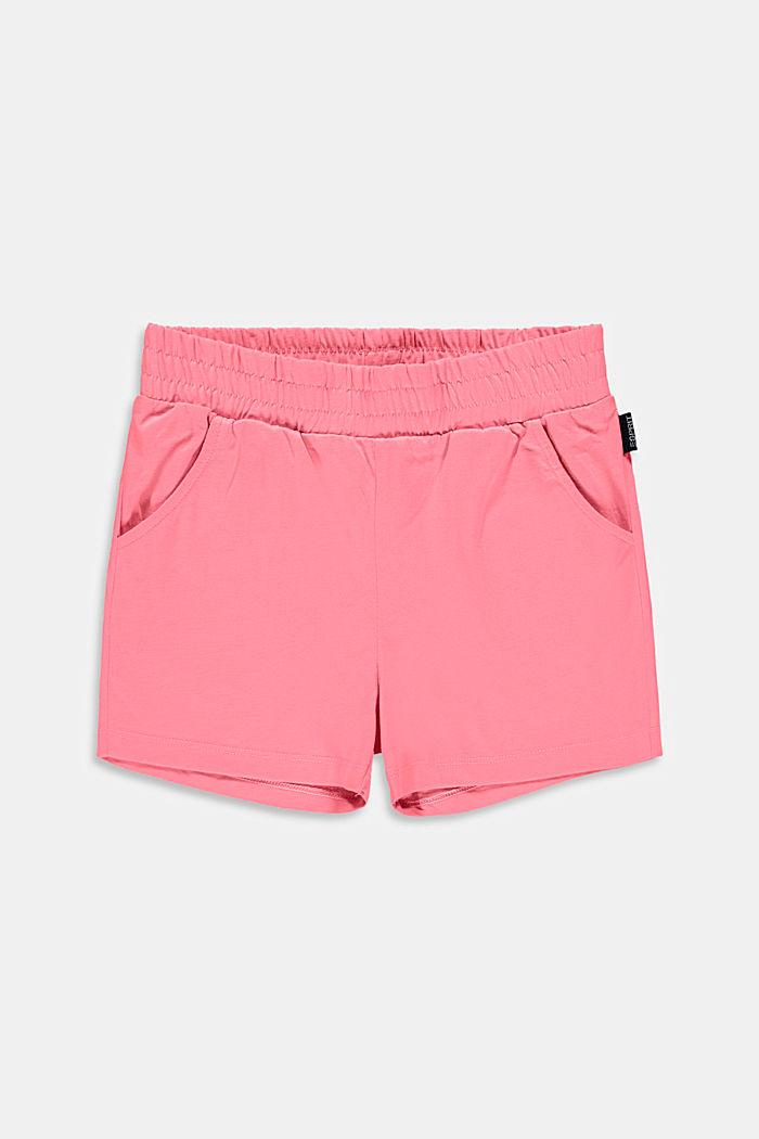 Pantalón corto en jersey elástico de algodón