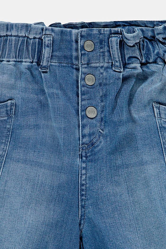 Jeansshorts in Ballonform mit elastischem Bund, BLUE LIGHT WASHED, detail image number 2