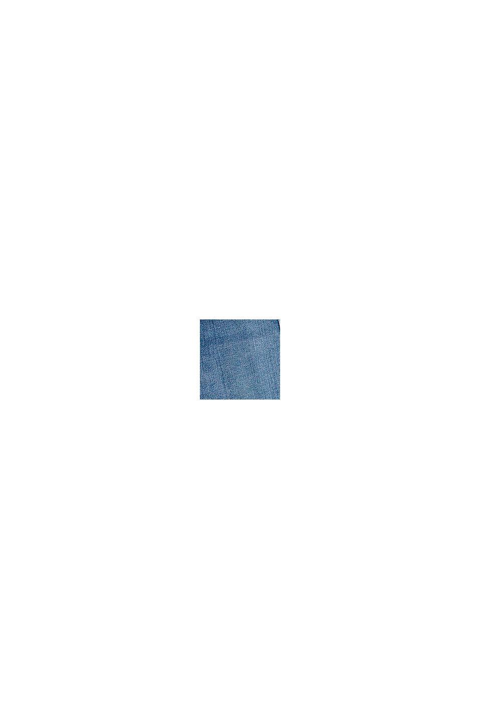 Vaqueros cortos de diseño abullonado con cintura elástica, BLUE LIGHT WASHED, swatch