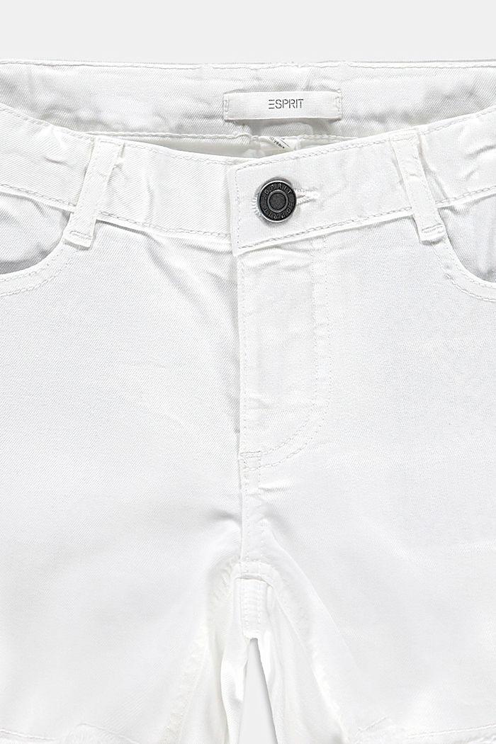 Vaqueros cortos con cintura ajustable, WHITE, detail image number 2