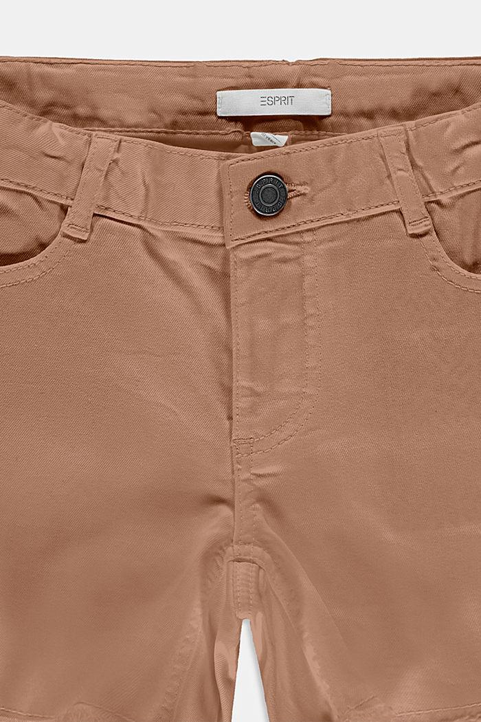 Denim short met verstelbare band, TAUPE, detail image number 2