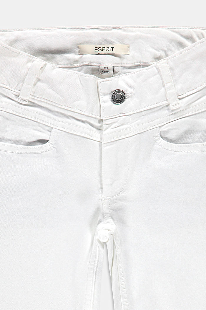 Capris jeans with an adjustable waistband, WHITE, detail image number 2