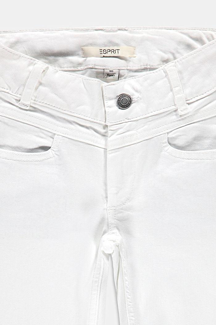 Capri-Jeans mit Verstellbund, WHITE, detail image number 2