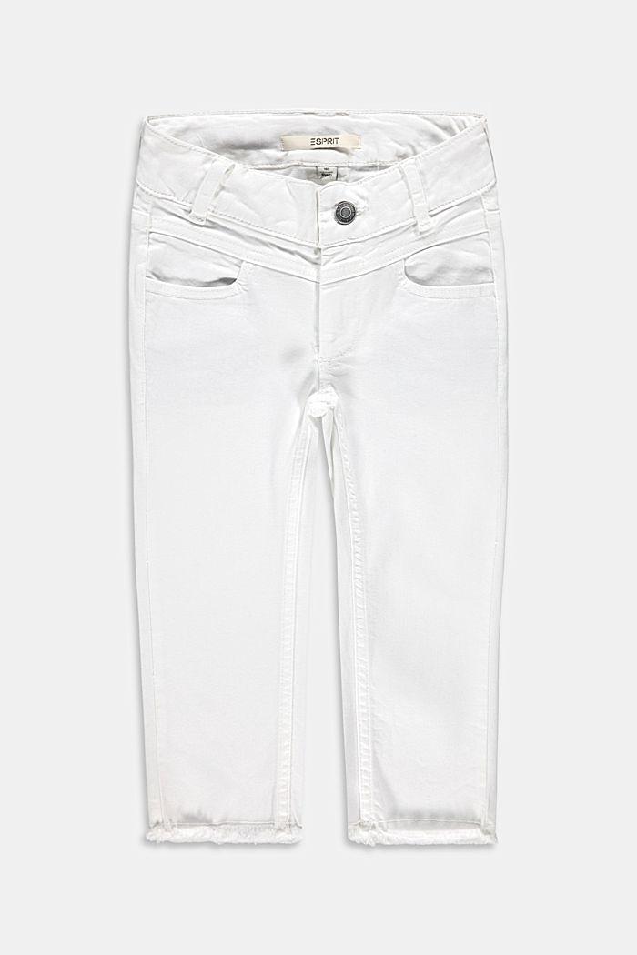 Capri-Jeans mit Verstellbund