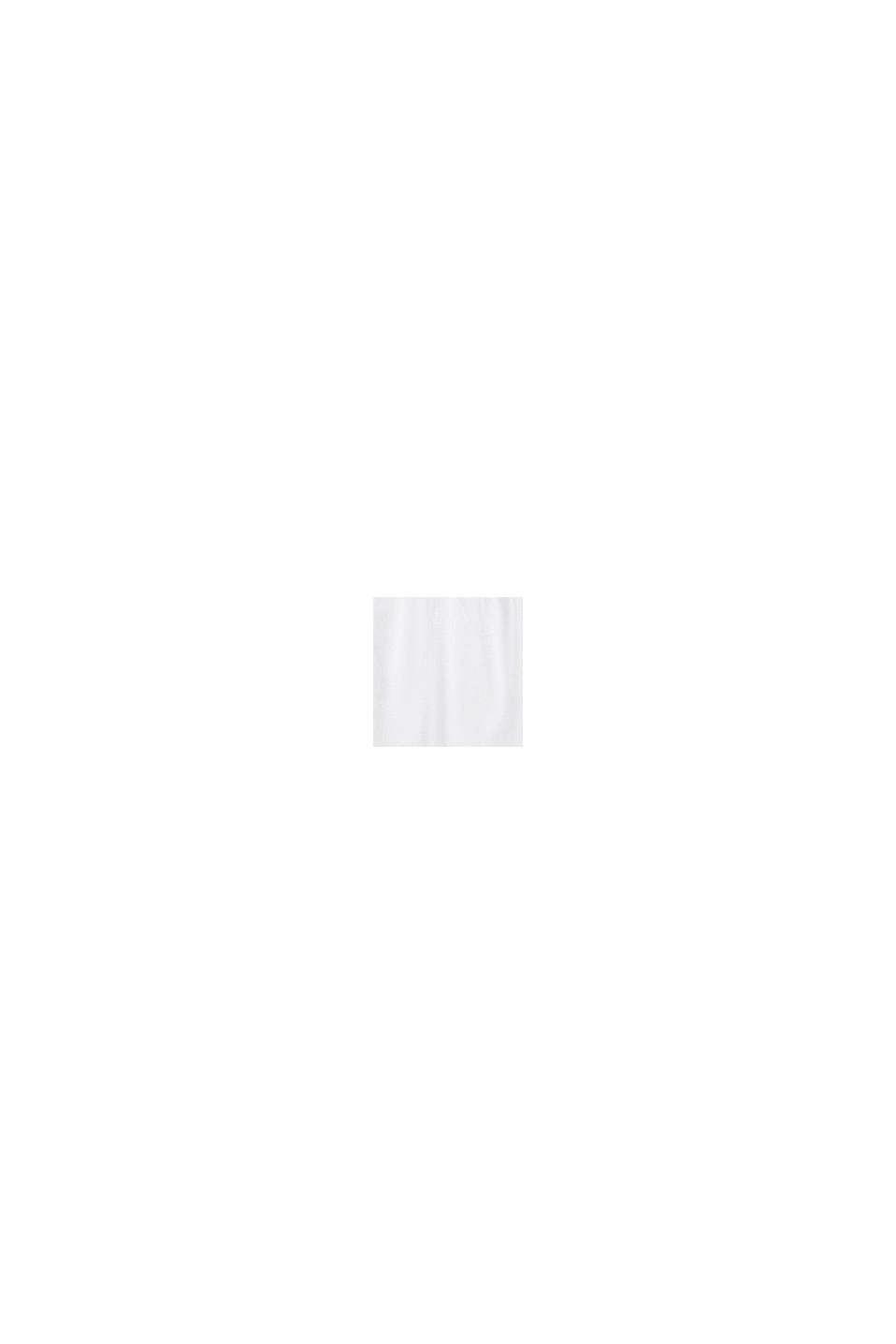 Rok met elastische band, 100% katoen, WHITE, swatch