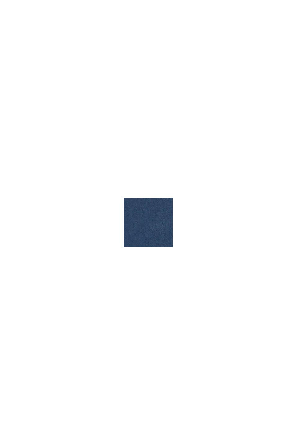 Jersey jurk met elastische taille, 100% katoen, PETROL BLUE, swatch