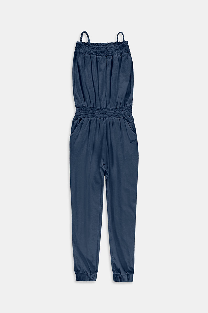 Jersey-jumpsuit i 100% bomuld