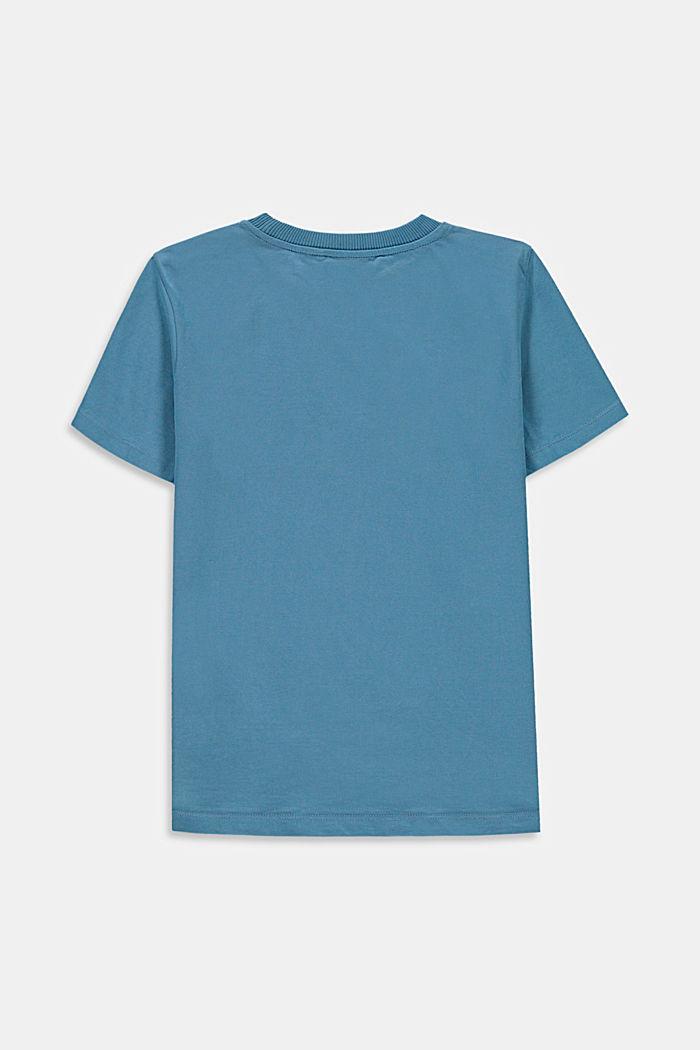 T-shirt z napisem, 100% bawełny, GREY BLUE, detail image number 1