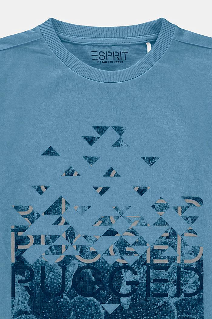 Camiseta con estampado, 100% algodón, GREY BLUE, detail image number 2