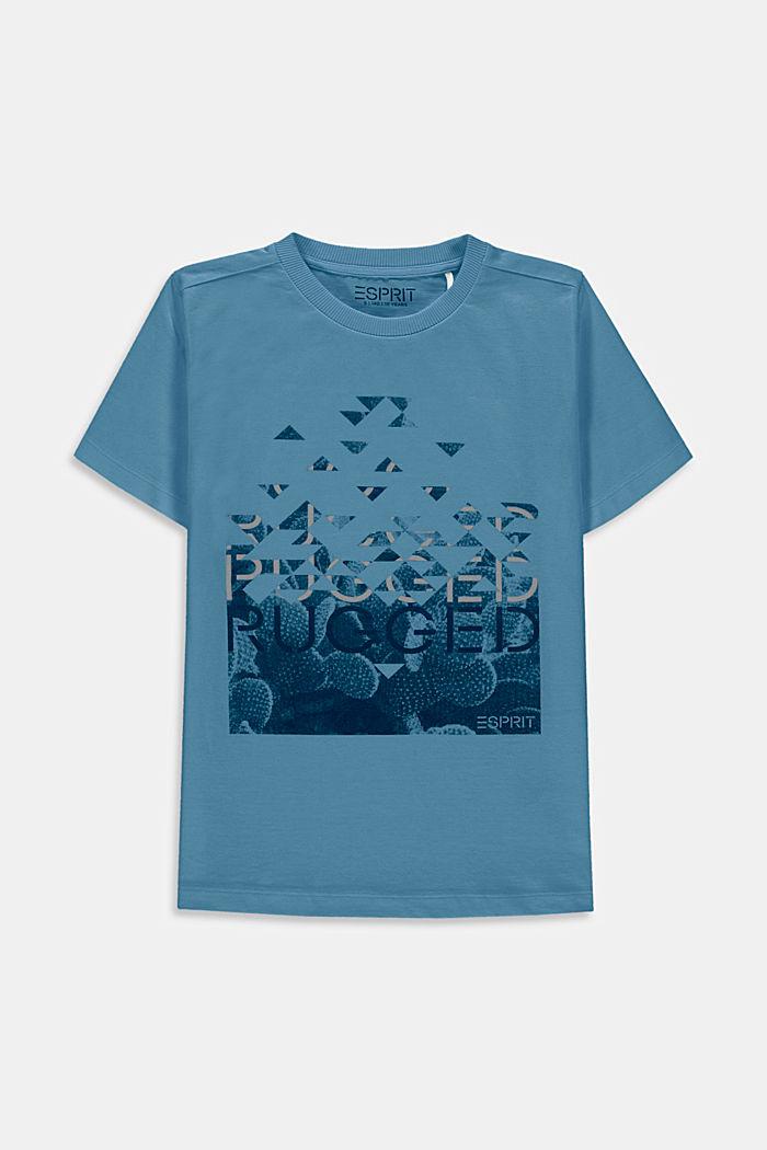 Camiseta con estampado, 100% algodón, GREY BLUE, detail image number 0
