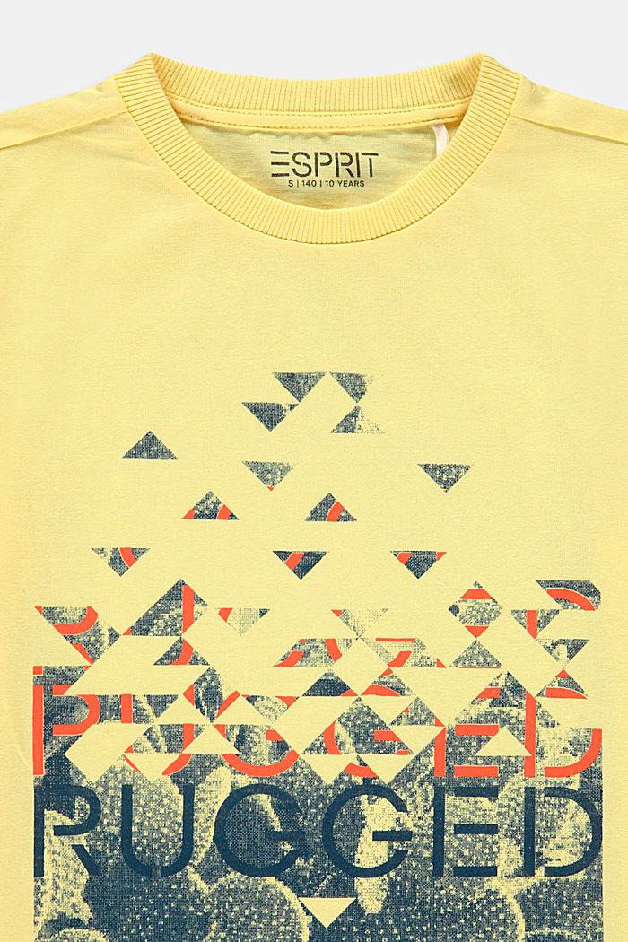 T-Shirt mit Print, 100% Baumwolle, BRIGHT YELLOW, detail image number 2