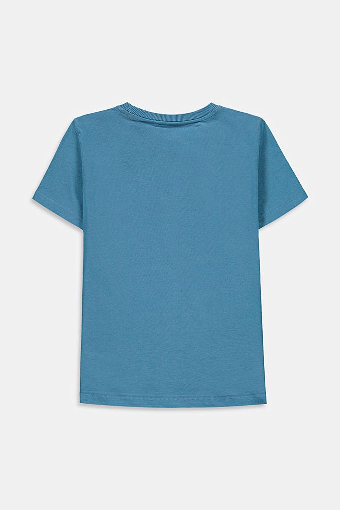 Camiseta con bolsillo en el pecho, 100% algodón, GREY BLUE, detail image number 1