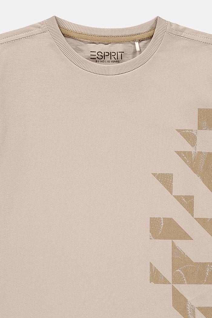 T-shirt met grafische print, 100% katoen, SILVER, detail image number 2