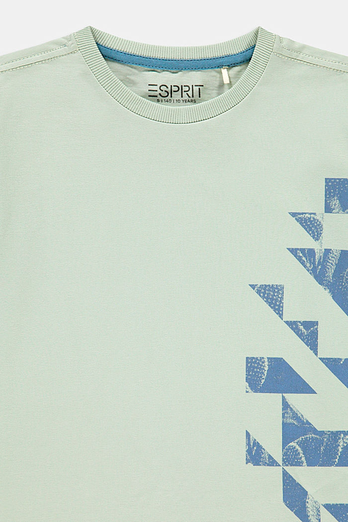 Graphically printed T-shirt, 100% cotton, PASTEL GREEN, detail image number 2