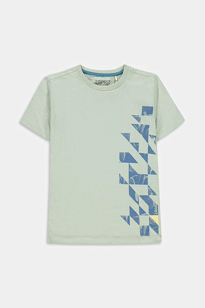 Graphically printed T-shirt, 100% cotton, PASTEL GREEN, detail image number 0