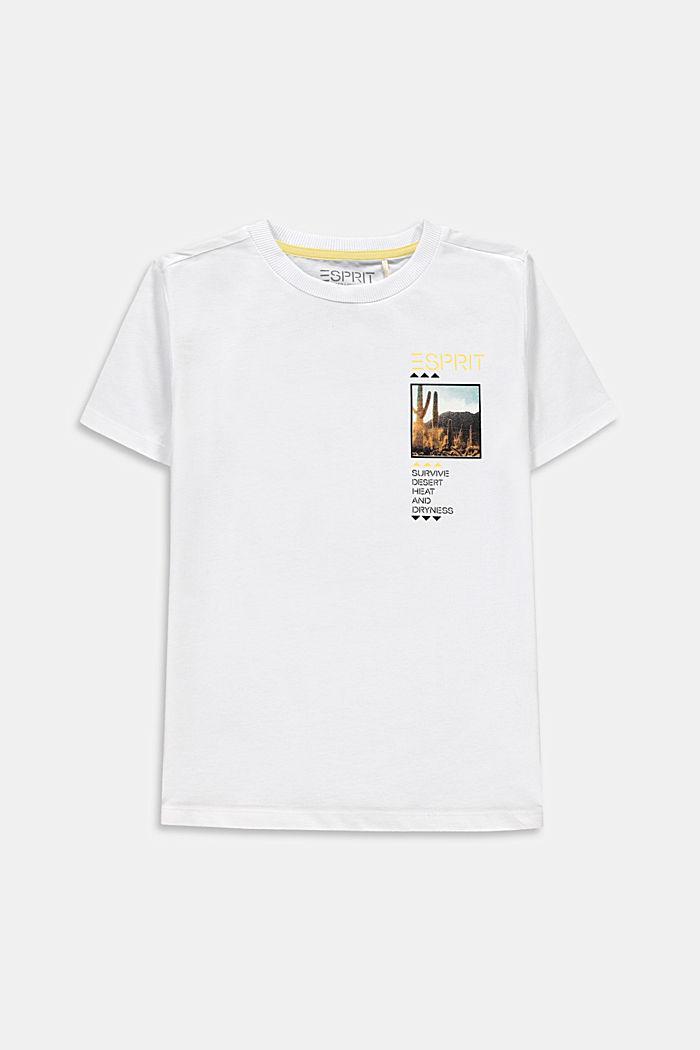 Oversized photo print T-shirt, 100% cotton, WHITE, detail image number 0