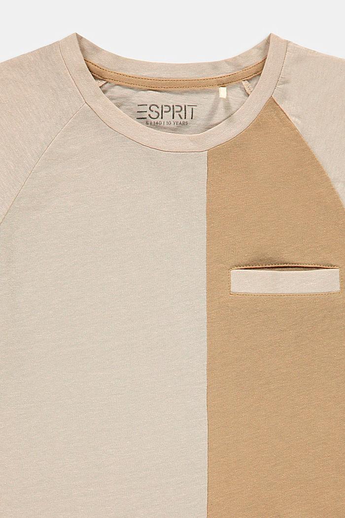 Mit Leinen: oversized Color Block T-Shirt, SILVER, detail image number 2