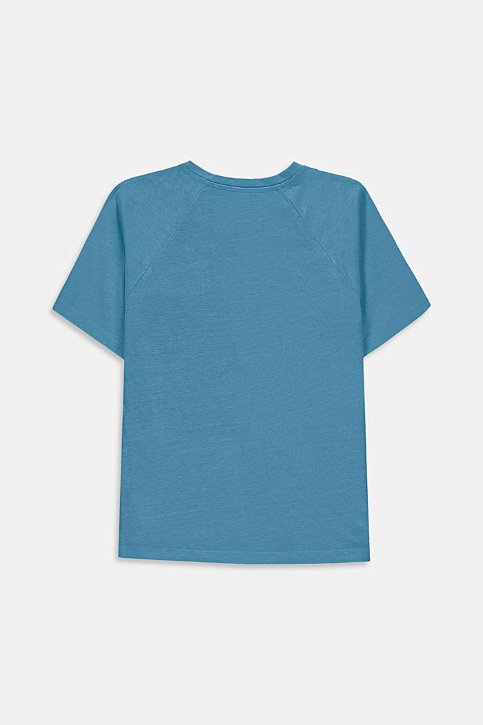Mit Leinen: oversized Color Block T-Shirt, GREY BLUE, detail image number 1