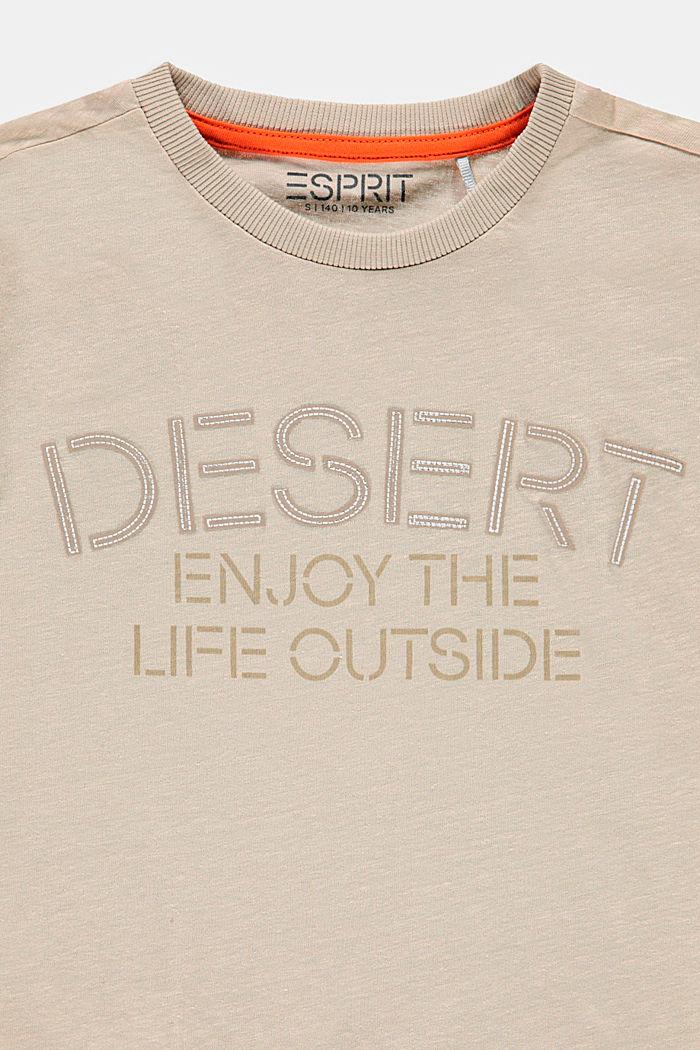 En coton et lin: le t-shirt à imprimé, SILVER, detail image number 2