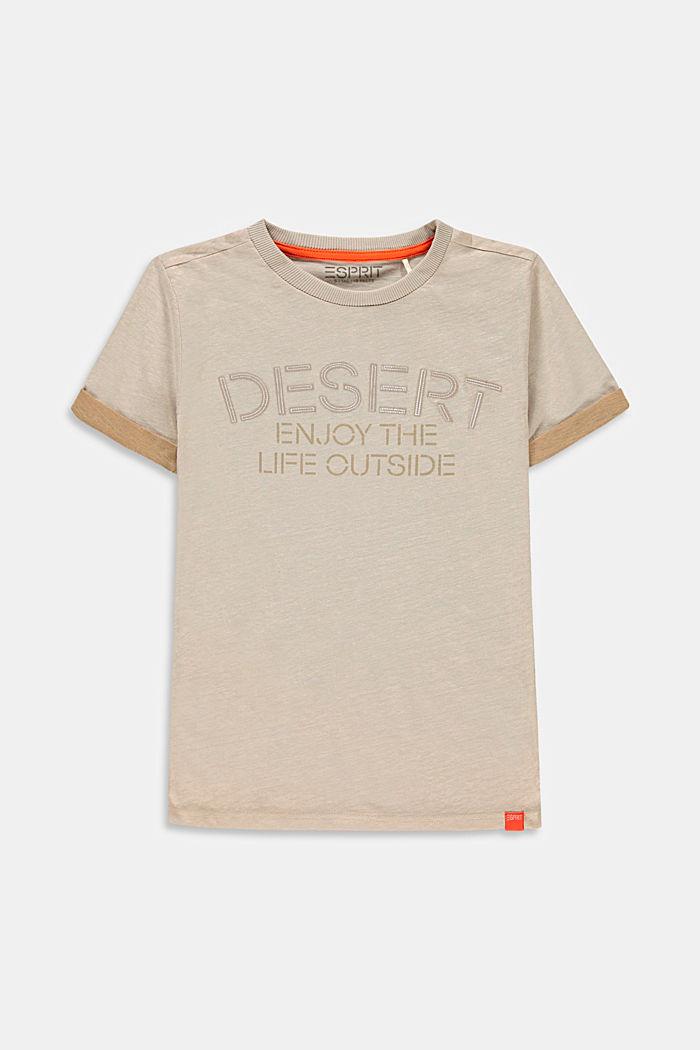 Van katoen/linnen: T-shirt met print