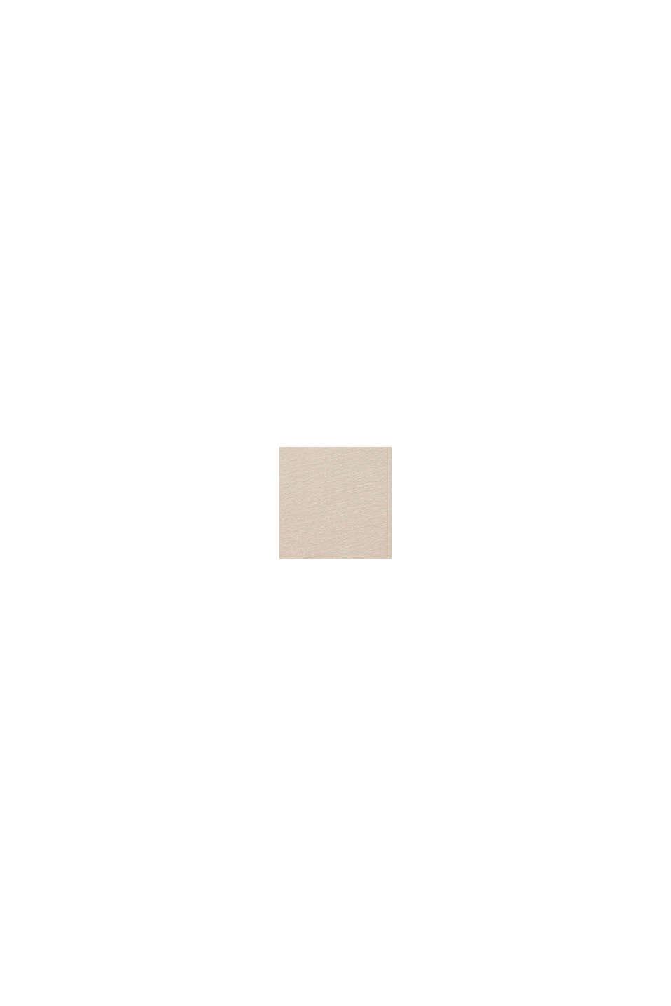 Van katoen/linnen: T-shirt met print, SILVER, swatch