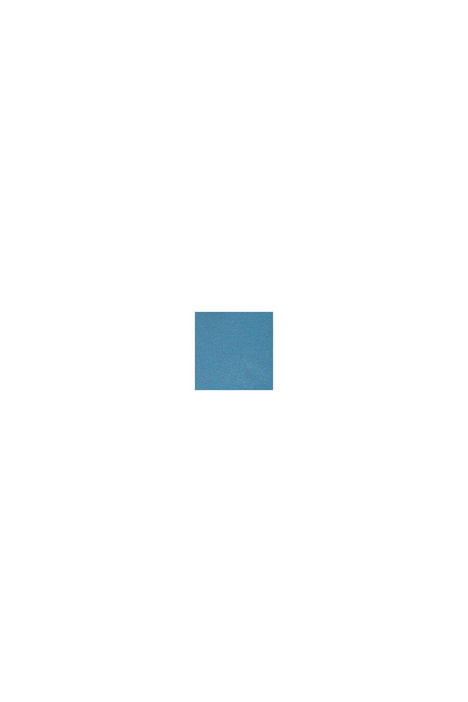 Zipp-Hoodie mit Logo-Print, 100% Baumwolle, GREY BLUE, swatch