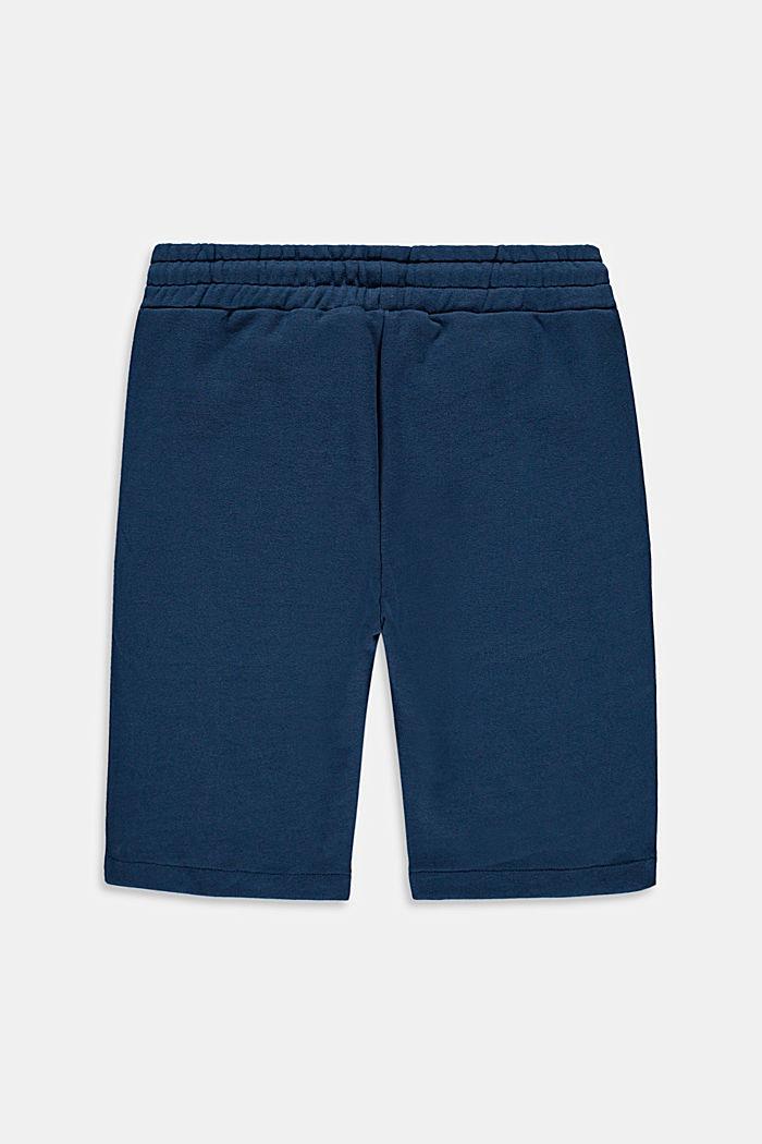 Sweatbermuda van 100% katoen, PETROL BLUE, detail image number 1
