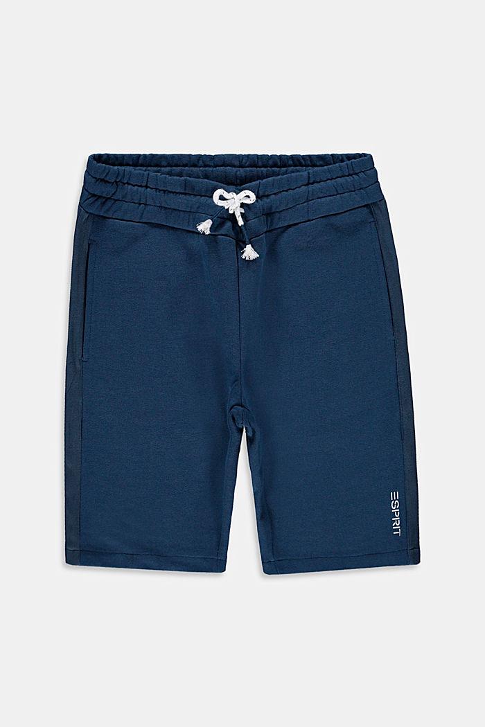 Sweatbermuda van 100% katoen, PETROL BLUE, detail image number 0