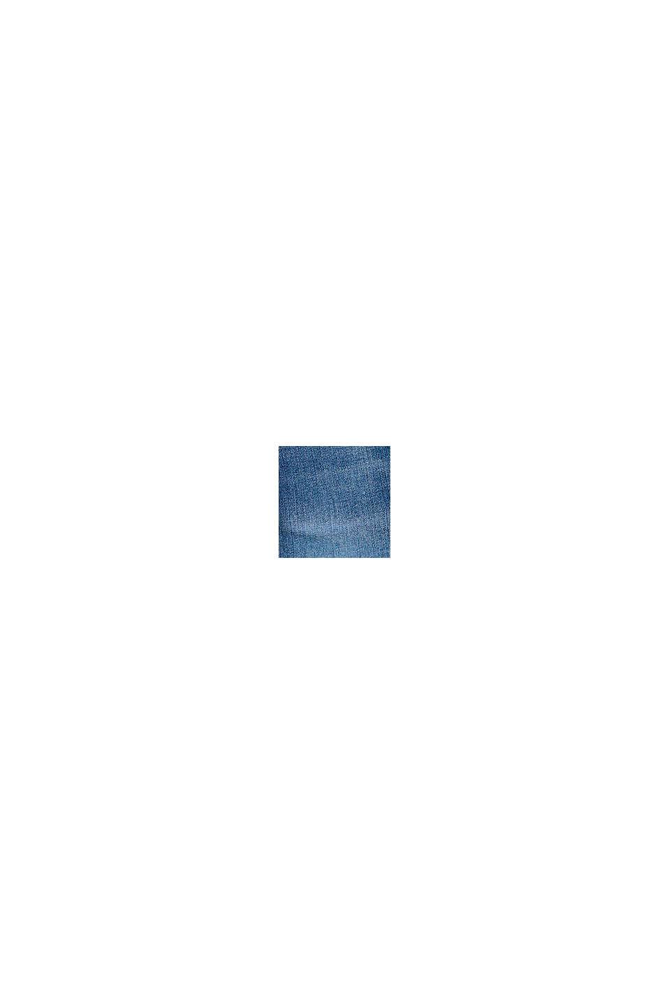 Pantalones vaqueros con cintura elástica en algodón, BLUE MEDIUM WASHED, swatch
