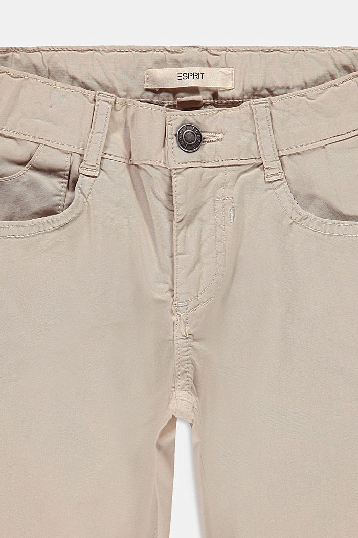 Shorts aus Baumwoll-Stretch mit Verstellbund, SILVER, detail image number 2