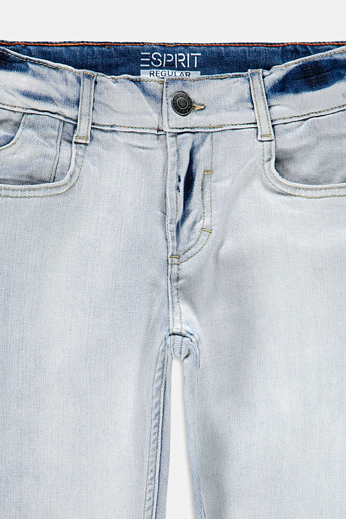 Stretch jeans with an adjustable waist, BLUE BLEACHED, detail image number 2