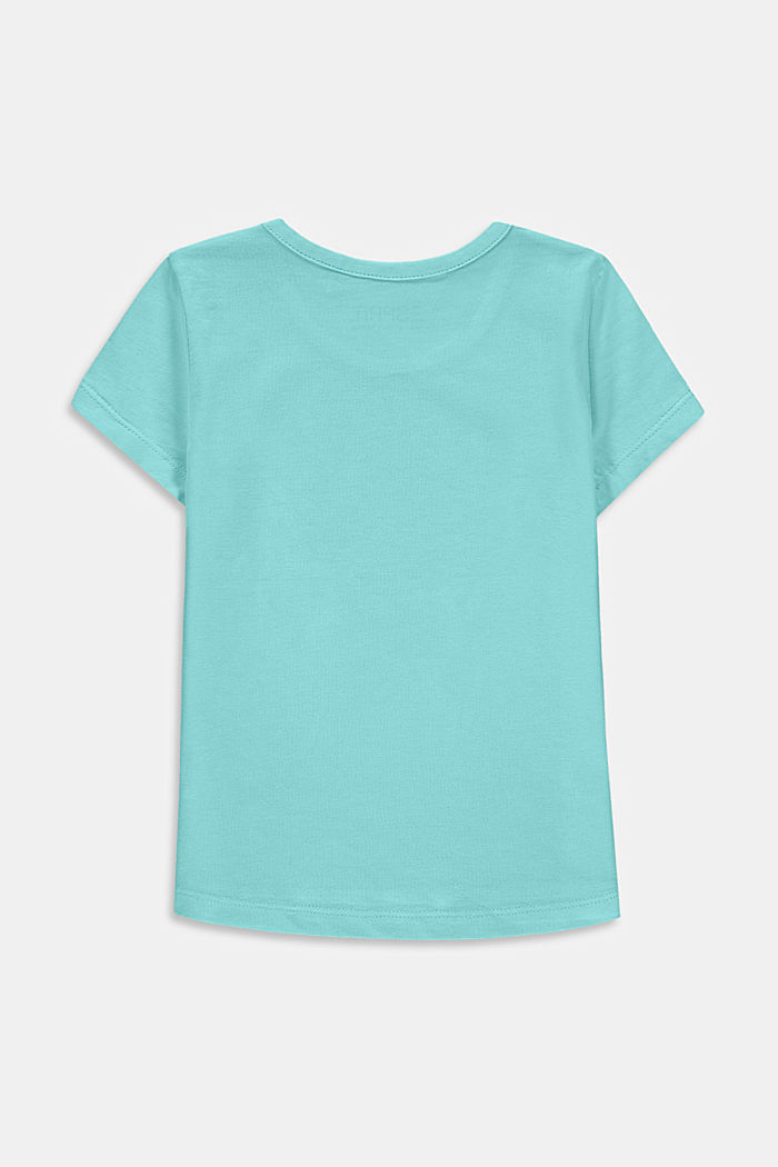Cotton T-shirt with print, LIGHT TURQUOISE, detail image number 1