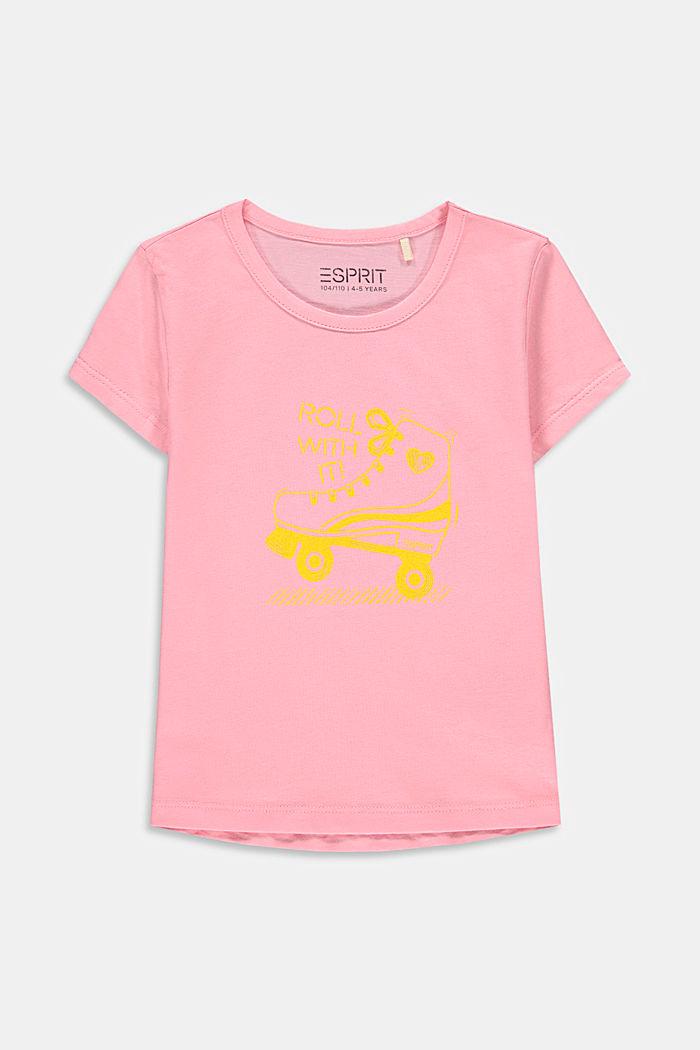 T-shirt à imprimé en coton, LIGHT PINK, detail image number 0