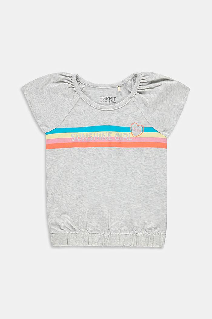 T-shirt à imprimé en coton, DUSTY NUDE, detail image number 0