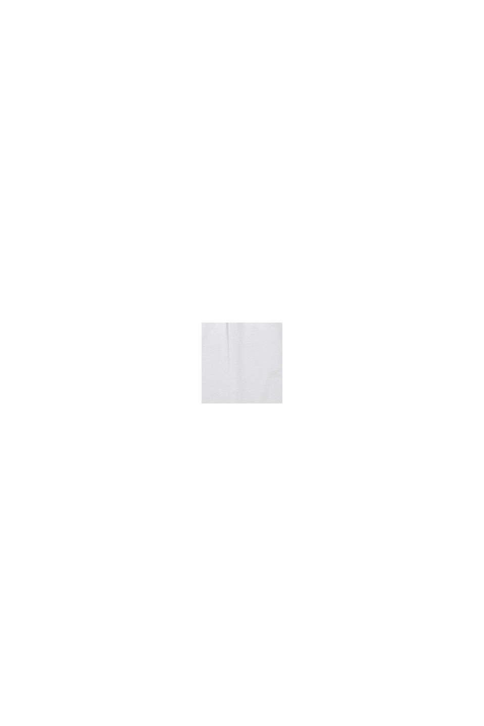 Top con ricamo e arricciatura in cotone elasticizzato, WHITE, swatch