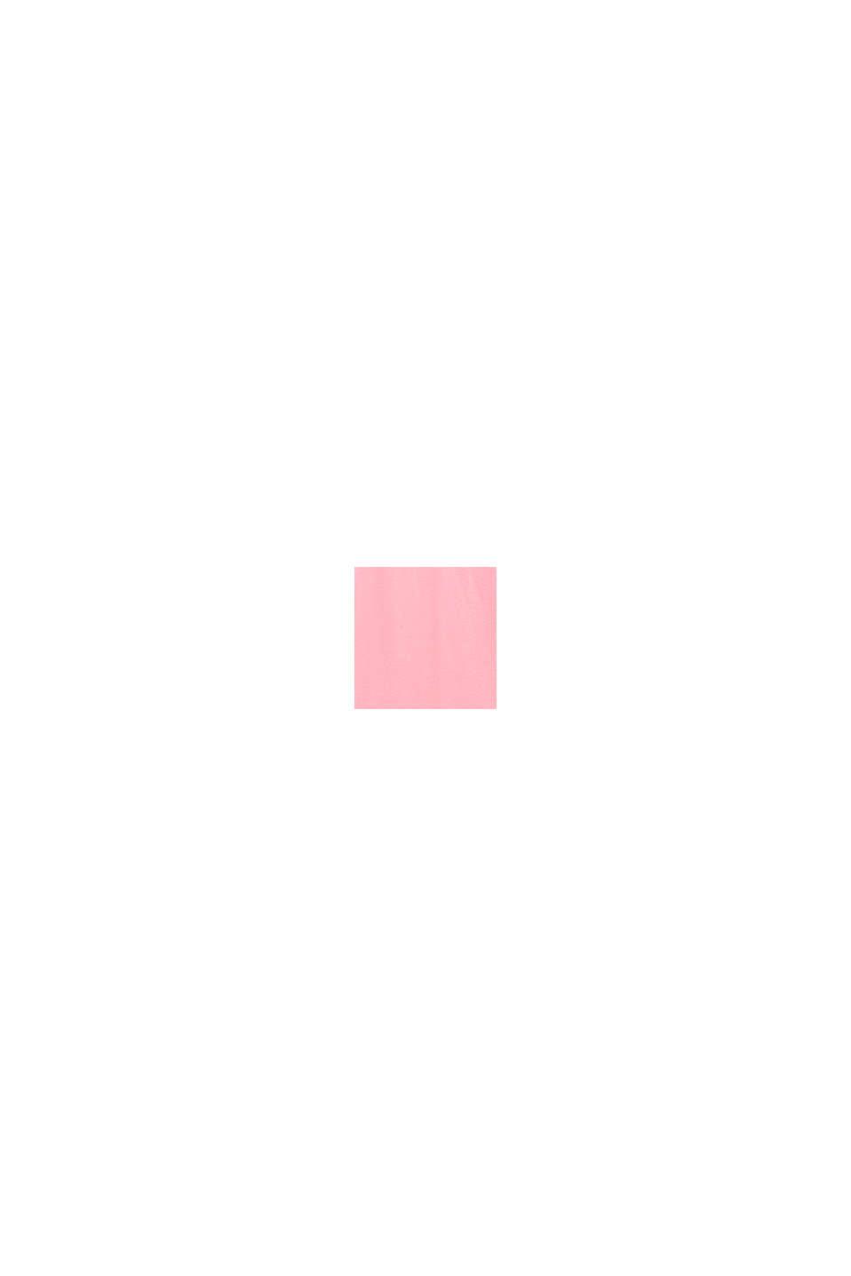 Top con ricamo e arricciatura in cotone elasticizzato, LIGHT PINK, swatch