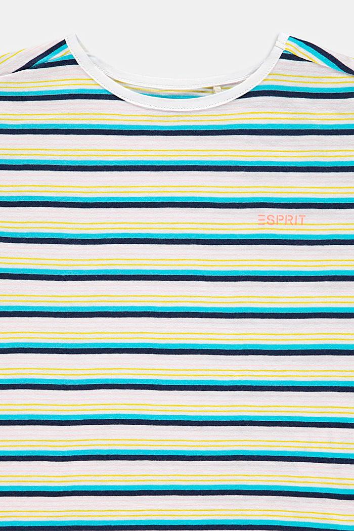 Raidallinen T-paita, 100 % puuvillaa, PETROL BLUE, detail image number 2
