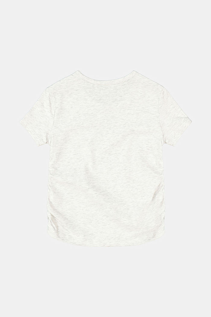 T-shirt with gathering and a small print, DUSTY NUDE, detail image number 1