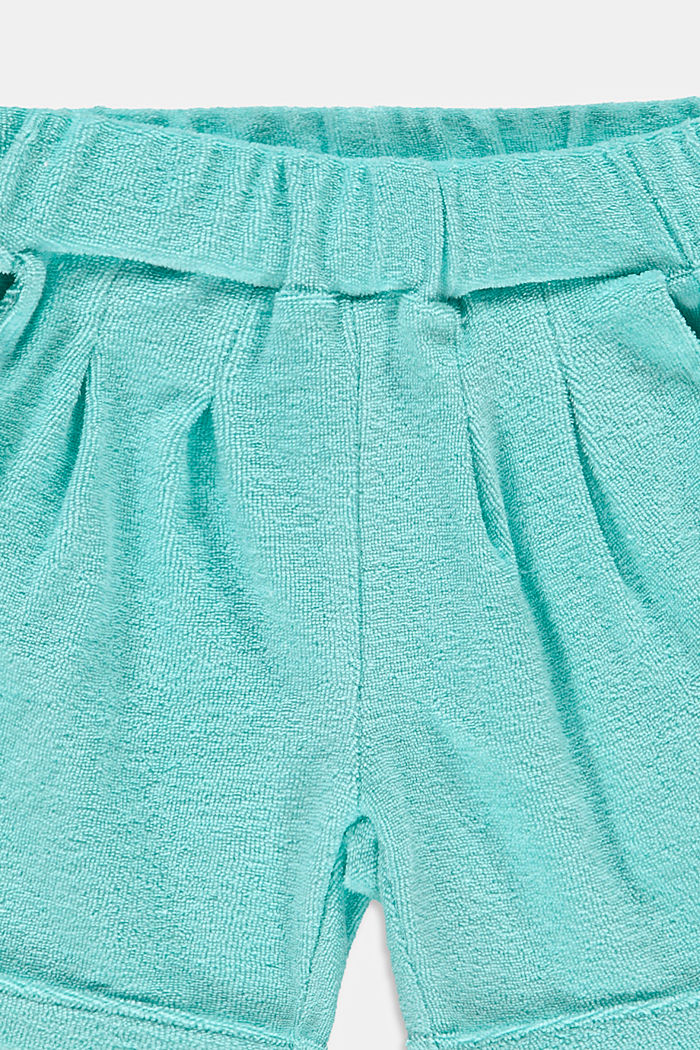 Shorts aus Baumwoll-Frottee, LIGHT TURQUOISE, detail image number 2