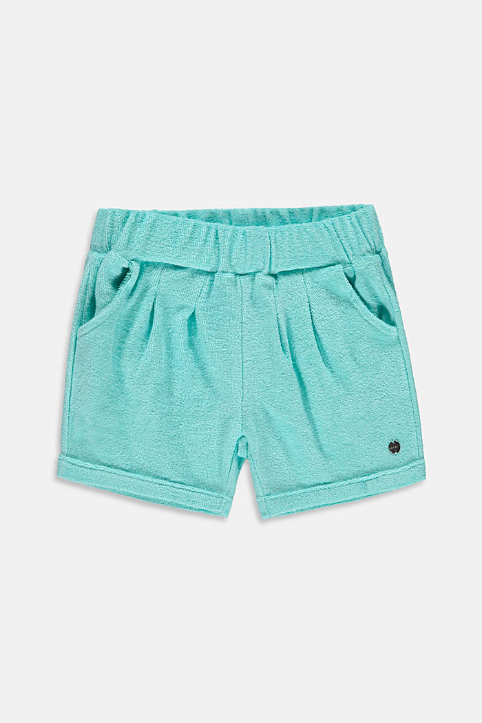 Shorts made of cotton terrycloth fabric