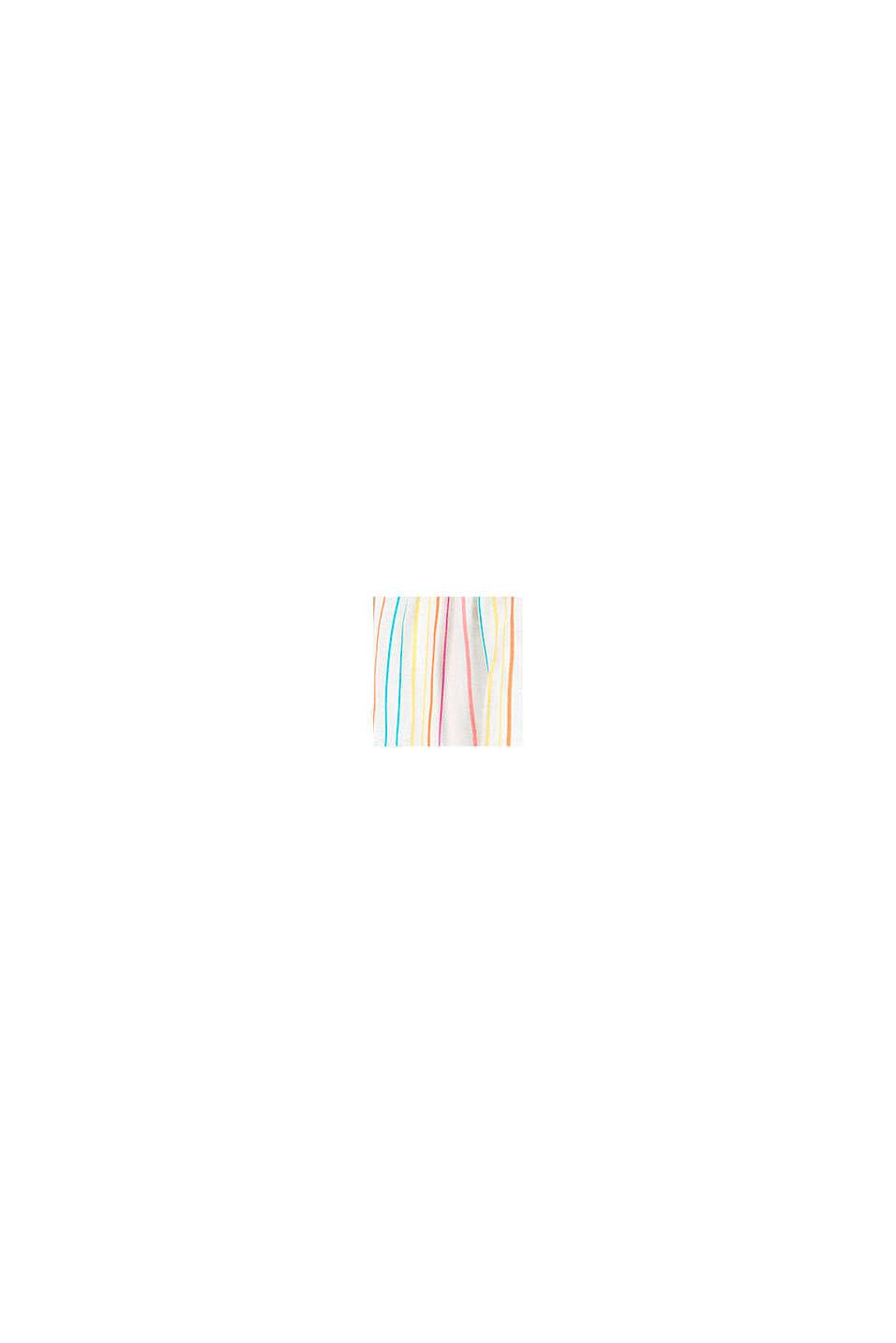 Rok met elastische band en kleurige strepen, LIGHT TURQUOISE, swatch