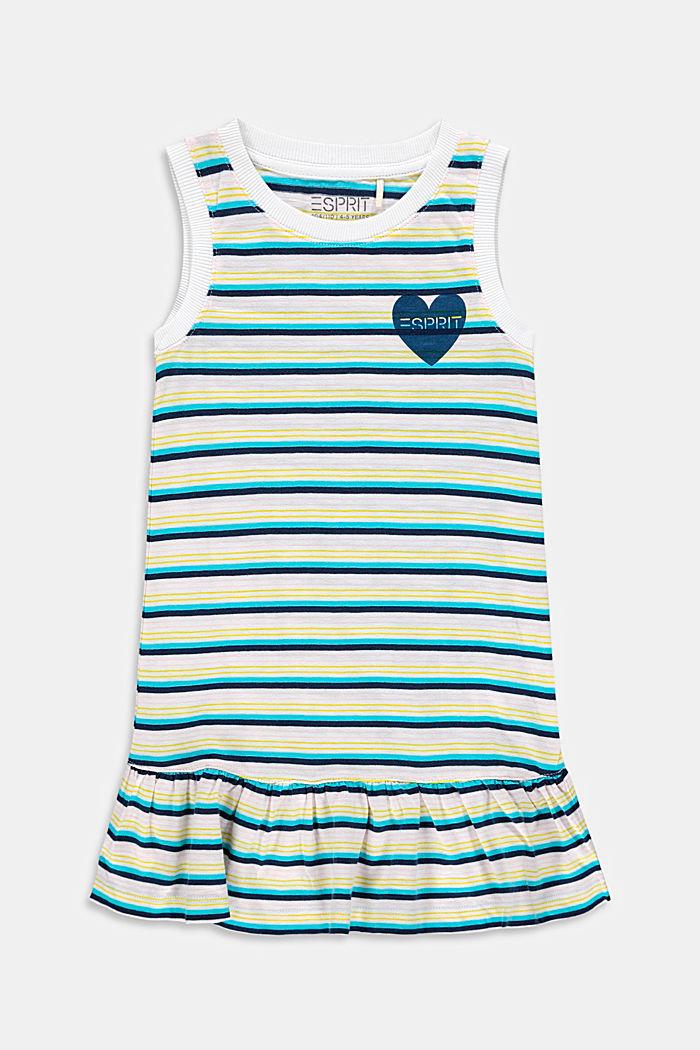 Jersey jurk met volant van 100% katoen