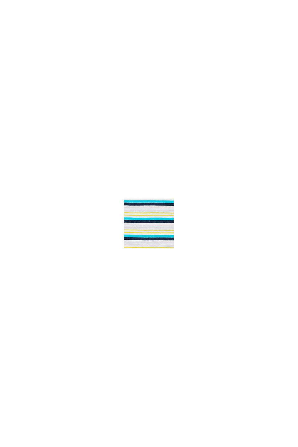 Jersey jurk met volant van 100% katoen, PETROL BLUE, swatch