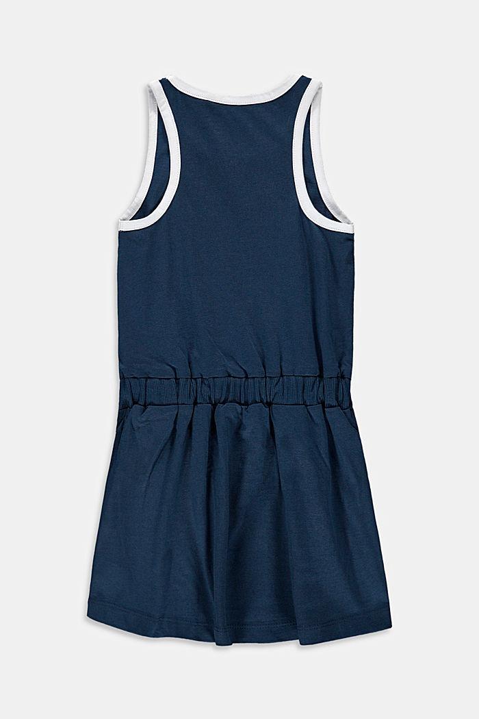 Roller skate print jersey dress, PETROL BLUE, detail image number 1