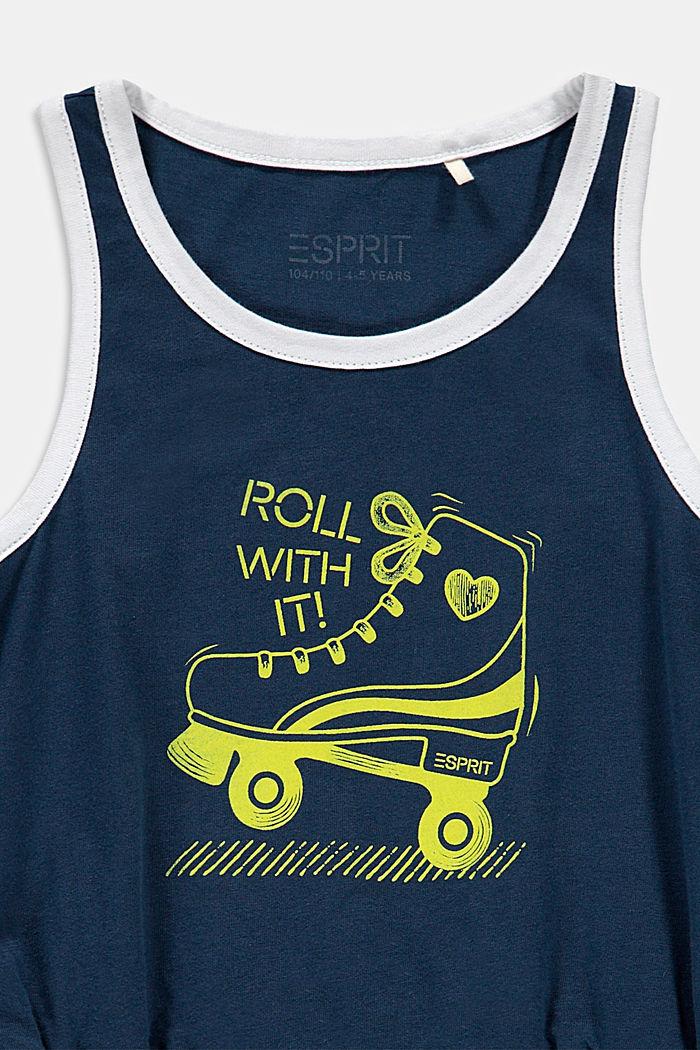 Roller skate print jersey dress, PETROL BLUE, detail image number 2